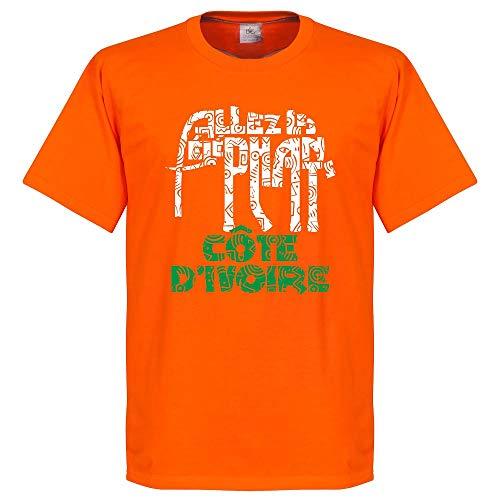 Costa de Marfil Allez Les elefantes camiseta-Naranja Naranja naranja XX-Large