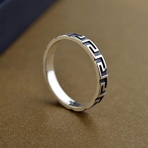 Weiduoli Einfache Retro-925 Sterlingsilber Männer und die universelle Ring Valentine Tag Geschenke