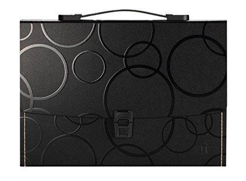 Shuter - Valigetta portadocumenti A4 a soffietto con 13 tasche, clip di chiusura, comodo manico flessibile ed etichette. Spessore e resistenza extra.