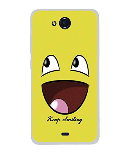 PrintVisa Designer Back Case Cover for Micromax Canvas Play Q355 (Cartoon Fun Smiley face Icon Cute Abstract Illustration)  available at amazon for Rs.296