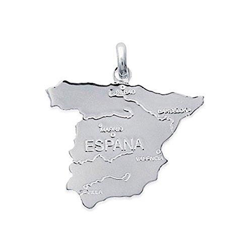 Lolita-Bling Anhänger Karte Spanien in Silber 925 OEM. 1867200Bijouterie schönen Schmuck