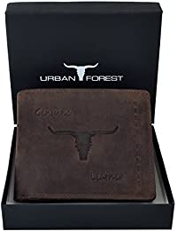 URBAN FOREST Leather Men's Dark Brown Wallet (Alaska)