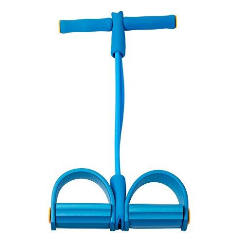 Uvistar Dynamische Pedal Bodybuilding Expander Latex Schlauch Fuß elastische Zugseil (blau)