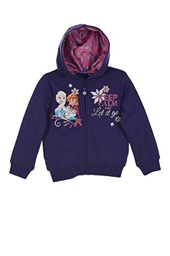 Disney Frozen Die Eiskönigin Elsa (1023) - Kinder Kapuzenpullover Pullover Sweatshirt Hoody, lila, Größe: 116 (Lila Mädchen Pullover)