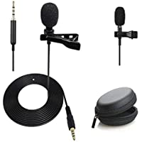 Alfa Mart Combo Dynamic 3.5mm mic Clip Microphone For Youtube, Collar Mike For Voice Recording, Lapel Mic Mobile, Pc…