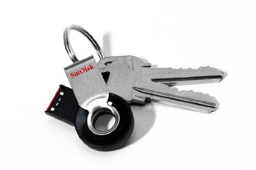 SanDisk Cruzer Orbit Rotating 8GB USB Pen Drive (Black/Chrome)