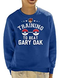 Pokemon Training To Beat Gary Oak Kids Sweatshirt