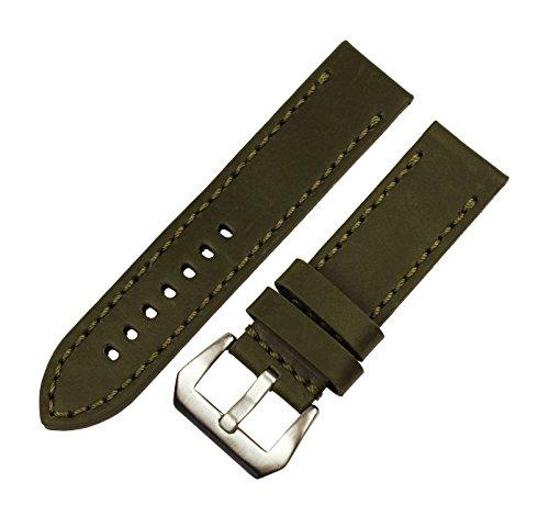rechere-smooth-matt-leather-wristwatch-watch-band-strap-stitch-big-silver-brushed-pin-buckle-dk-gree