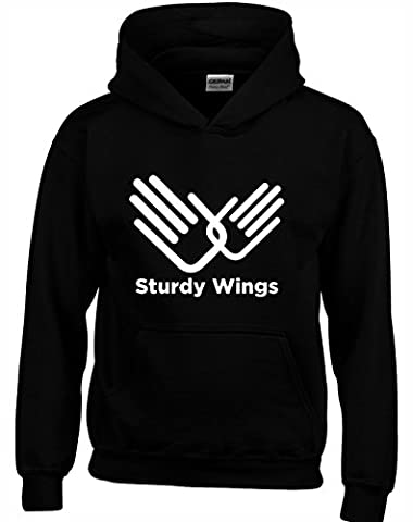 'STURDY WINGS' Role Models Inspired Gift Unisex Hoodies For Men, Women & Teenagers (Black/XX-Large)