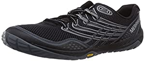Merrell Trail Glove 3, Men's Lace-Up Trail Running Shoes - Black/Light Grey, 12 UK
