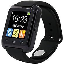 Culater® Bluetooth inteligente muñeca sana reloj para iPhone LG Samsung teléfono Negro