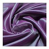 Stoff Polyester Kleidertaft lila grün changierend Taft