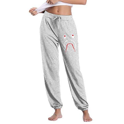 LihaiLe Shark Face Women's Long Pockets Pants Gray