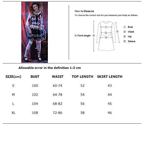 MHPY HalloweenDamen High School Girl Zombie Kostüm Halloween Scary Ghost Student Uniform - Girls Kostüm Zombie