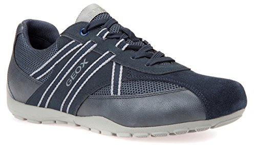 Geox U743FB Uomo Ravex Sportlicher Herren Sneaker, Schnürhalbschuh, Freizeitschuh, Atmungsaktiv,...