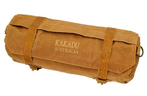 Kakadu Traders Rolltasche mit geprägtem Leder (Motorrad-leder Fahrrad-werkzeug-tasche)