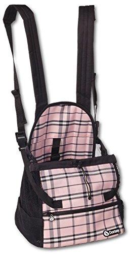 Artikelbild: Doxtasy Front Carrier, Scottish Pink, Größe Medium,bis 9 kg, Liegefläche ca. L 28 cm, B ca. 20,5 cm, H ca. 26 cm