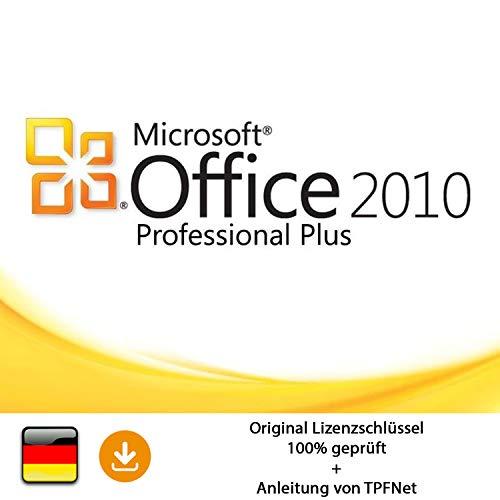 MS Office 2010 Professional 32 bit & 64 bit Vollversion Original Lizenzschlüssel per Post und E-Mail + Anleitung von TPFNet® - Versand maximal 60Min