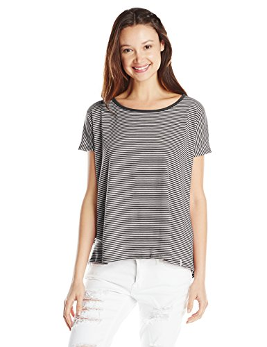 Volcom Lived in Stripe Tee, Donna, Top Lived in Stripe Tee, nero, S