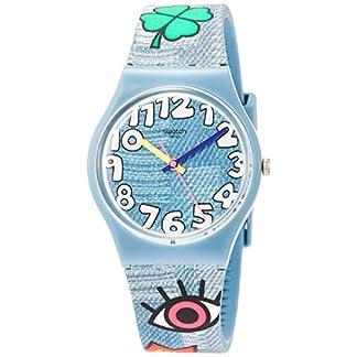Swatch Reloj Analógico para Hombre de Cuarzo con Correa en Silicona GS155