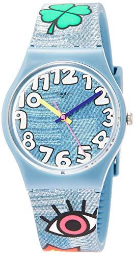 Swatch Orologio Analogico Quarzo Uomo con Cinturino in Silicone GS155