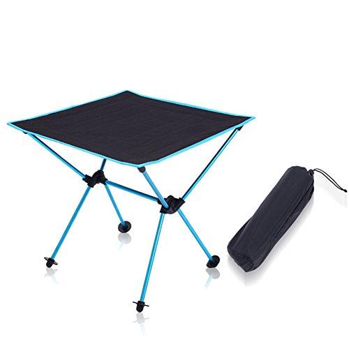 QIAO Outdoor Klapptisch Oxford Tuch Luftfahrt Aluminiumlegierung Camping Tragbare Leichte Picknick Grill Tisch Freizeit Tisch