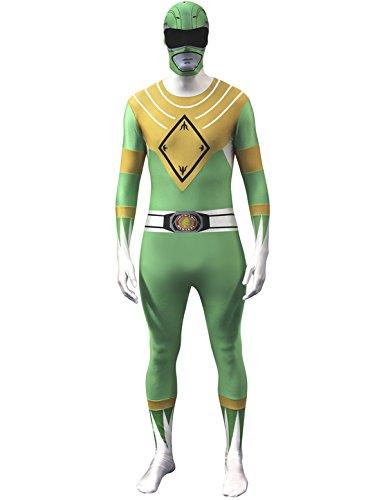 Ranger Erwachsene (Grünes Power Ranger Kostüm Für Erwachsene)