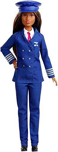 Barbie carriere iconiche, pilota, edizione esclusiva per 60° anniversario, da collezionare, bambola giocattolo per bambini 3 + anni, gfx25