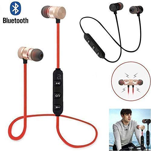 CRAYOTALK k1 Bluetooth 4.1 Wireless Headset, Noise Canceling Hands-Free with Magnetic Wireless Bluetooth Sport in-Ear Earbuds & Mic Compatible with All Smartphones (Assorted Color) Image 8