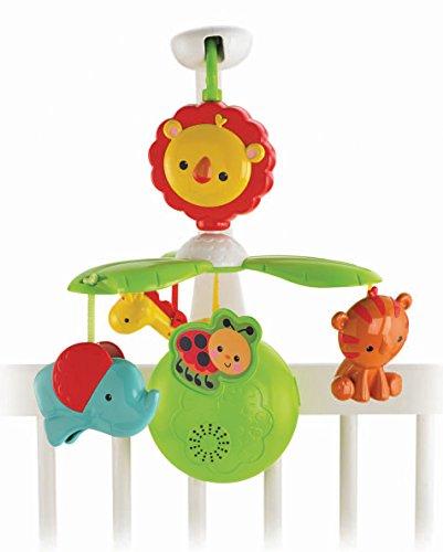 Fisher Price Regenwald Mobile Deluxe Baby Einschlafhilfe fürs Bett mit verschiedenen Melodien Grow with me Mobile