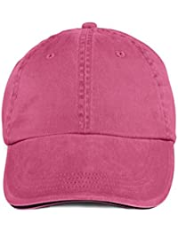 Anvil: Sandwich Trim Pigment-Dyed Twill Cap 166, Größe:One Size;Farbe:Flamingo