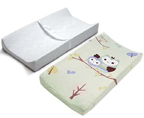 Summer Infant Contoured Changing Pad & Plush Pals Changing Pad Cover - Owls