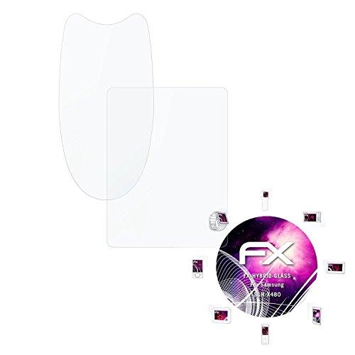 Samsung SGH-X480 Glasfolie - 1er Set atFoliX FX-Hybrid-Glass hartbeschichtete elastische 9H Kunststoffglas Folie - besser als Echtglas Panzerglas
