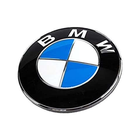BMW Boot Badge Bonnet Emblem Genuine Fits 1 3 5 6 7 X Z series ** 74mm ** New