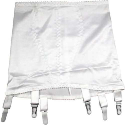 Nancies Hüfthalter mit 6 Strumpfhaltern (NDG6) (XL, Weiß)