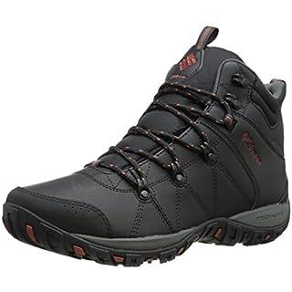 Columbia Men's PEAKFREAK VENTURE MID WATERPROOF OMNI-H Multi-Sport Shoes, Black, Sanguine 010), 11 UK 45 EU