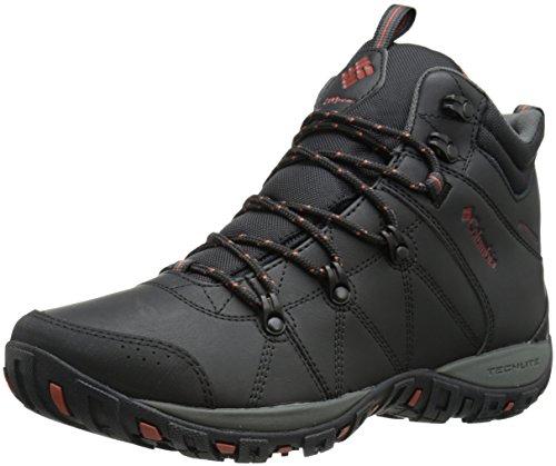 Columbia PEAKFREAK VENTURE MID WATERPROOF OMNI-H, Scarpe da trekking medio uomo, Nero (Black/Sanguine 010), 43 EU