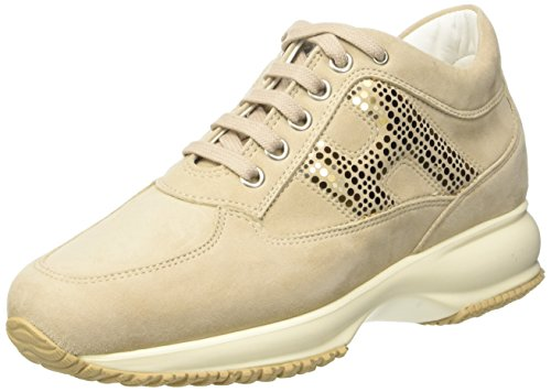 Hogan Damen Hxw00n0x290cr0m024 Niedrige Sneaker Marrone (Zenzero)