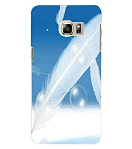 ColourCraft Beautiful Feathers Design Back Case Cover for SAMSUNG GALAXY S6 EDGE PLUS