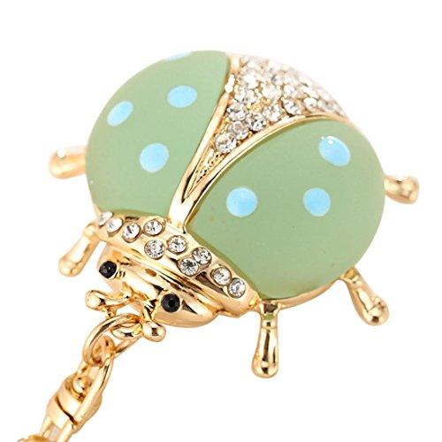 Dragon868 Schlüsselanhänger Tier Serie Cute Ladybug Modellierung Schlüsselanhänger Kreative Mädchen Tasche Ornamente (Grün) System-modellierung