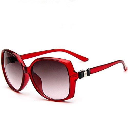 Z-P New Fashion Elegant For Women Reflective UV400 Big Frame Bow Sunglasses 58MM