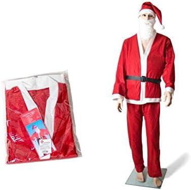 Traje Papa Noel 5 Piezas Adulto