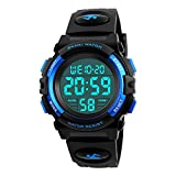 CakCity Boys Sport Digital Watches, Kids Waterproof Sports Outdoor LED Screen Watches Electronic