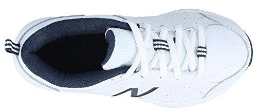 New Balance Kids Unisex KX624 (Little Kid/Big Kid) White/Navy Sneaker 1 Little Kid XW White/navy