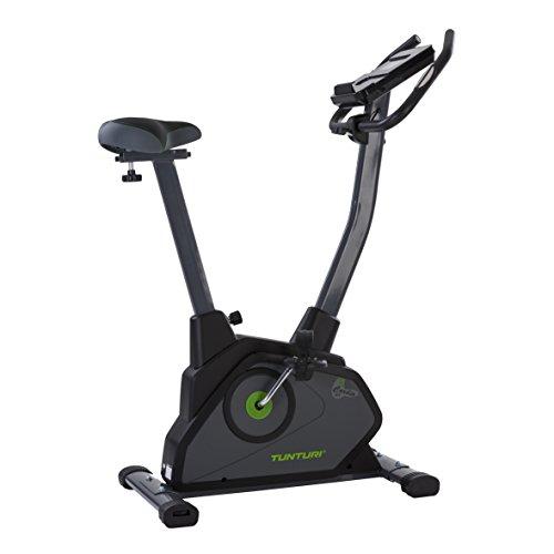 Tunturi Cardio Fit E35 Ergometer heimtrainer fahrrad  / Fitnessfahrrad / Fahrradergometer / Hometrainer fahrrad trainer + Handpulssensoren + Tablethalterung + Magnetbremssystem + Bildschirmanzeige -
