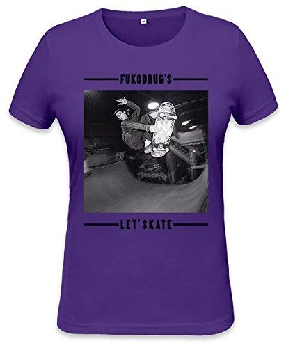 Let's Skate Womens T-shirt XX-Large (Tank Tye-dye Shirt Top)