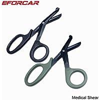 ETGtek(TM) El paramédico Trauma Médico Tijeras Tijeras tácticos de primeros auxilios de emergencia con dientes de sierra Para Médico vendaje -Pack De 2