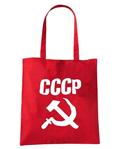 T-Shirtshock - Borsa Shopping TCO0040 cccp falce e martello comunismo Rosso
