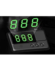 Kingneed GPS Vehicle Speed Head-Up Display, Speedometer Tracker with driving time and distance display