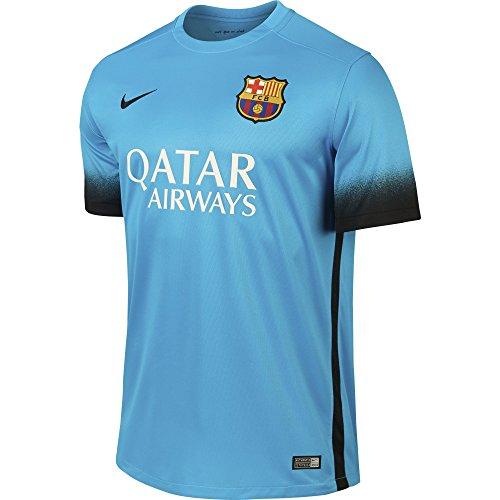 Nike FCB SS decept Stadium JSY - Unisex T-Shirt, blau-schwarz L Bleu/Noir